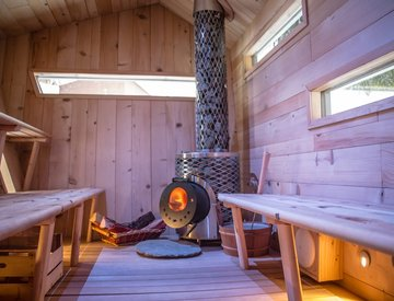 Cubesauna – interno - Grand Hotel Royal e Golf Courmayeur